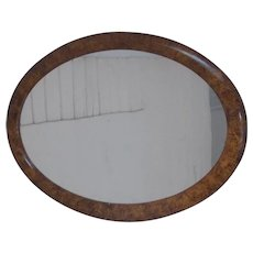 19 Century Scandinavian Swedish  oval wall mirror