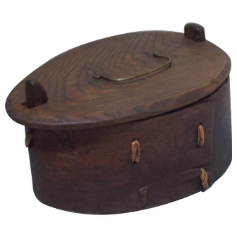 19 Century Scandinavian Swedish bentwood pantry box in maple.