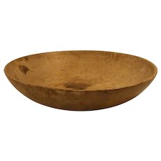 Old Swedish 19th Century hand turned wood bowl
