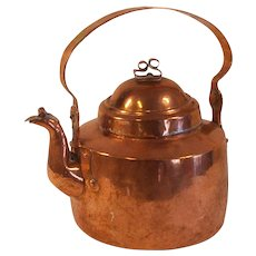 Antique 18 - 19 century Swedish coffee / tea kettle in copper