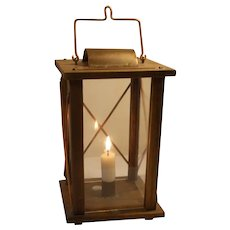 Old Vintage Swedish Candle hand stable lantern / barn lantern early 1900`s  Sweden