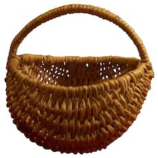 Small children`s antique Swedish 18 / 19 century root made gathering basket .