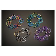 Anodized Aluminum Large Triple Jump Ring Bracelets