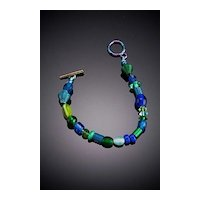 Anodized Aluminum and Glass Bead Bracelets