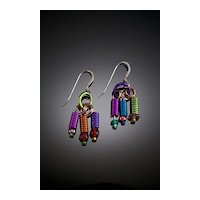 Anodized Aluminum Spring Earrings