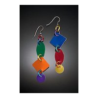 Anodized Aluminum Multi Shape Earrings
