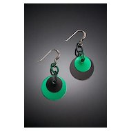 Anodized Aluminum Double Disc Earrings
