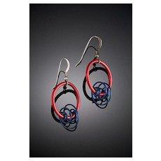 Anodized Aluminum Spiral Hoop Earrings