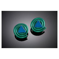 Anodized Aluminum Wire Coil with Accent Earrings