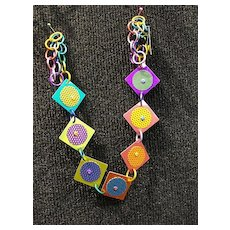 Anodized Aluminum Square Necklaces
