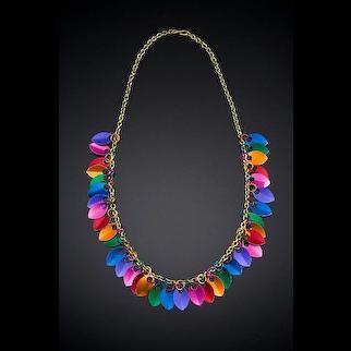 Anodized Aluminum Scale Necklaces