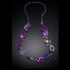 AA Free Form Wire Necklaces AA Accents on Ball Chain