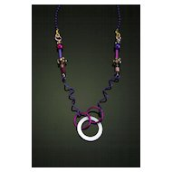 Anodized Aluminum Multi Functional Necklaces with Extra Accents