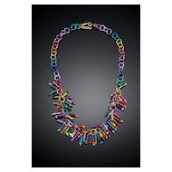 Anodized Aluminum Spring Necklaces