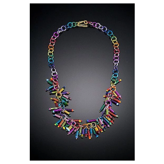 Anodized Aluminum Spring Necklaces