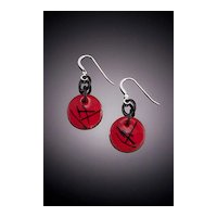 Two Toned Enameled Earrings