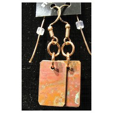 Natural Aged Copper Earrings