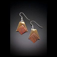 Brass, Copper and Sterling Soldered Earrings