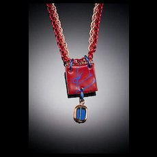 Enameled Pendants with Single Dangle Accent