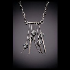 Hammered Sterling Necklaces with 5 Accents