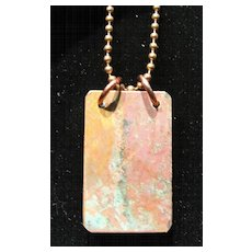 Natural Aged Copper Pendants