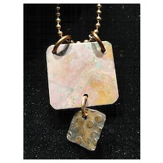 Natural Aged Copper Pendants with Dangle