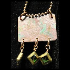 Natural Aged Copper Pendants with Multiple Dangles