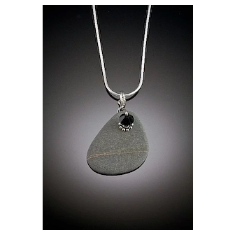 River Rock and Found Object Pendant Necklaces