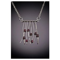 Hand Hammered Sterling Necklaces 8 Small Accents