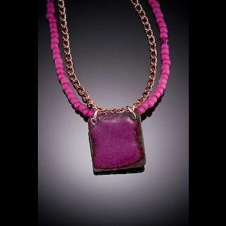 Enameled Pendant Necklaces