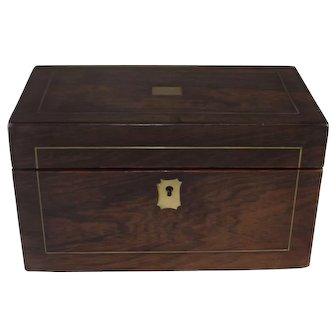 Antique Walnut Tea Caddy