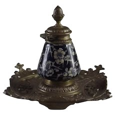 19th Century Aesthetic Movement Inkwell