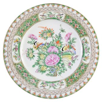 Chinese Export Canton Rose Plate