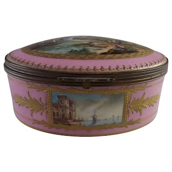 Antique French Porcelain Dresser Box