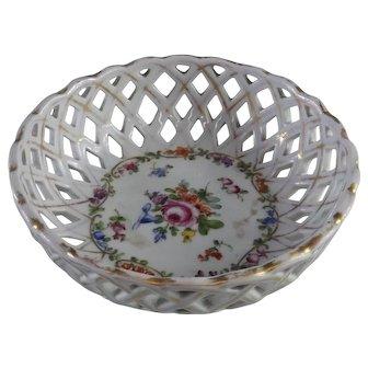 Von Schierholz Reticulated Porcelain Bowl