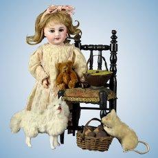 "Beautiful  Unis France 301 bisque 10.2"" Blue Eyed Bleuette Doll SFBJ"