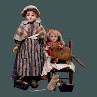 Antique circa 1909 German Very Rare Velvet brush cat Steiff or related FREE SHIPPING