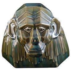 Green pure Art Deco Monkey Ceramics