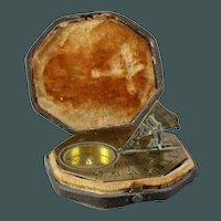 French antique brass octagonal Nicholas Bion (1652-1733) Paris sundial pocket of travel 1700