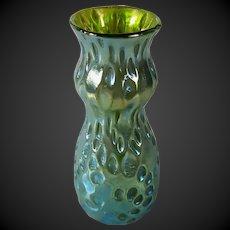 Loetz Art glass decor Crete Diaspora blue/green