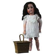 """Cabinet size 14"""" German antique early character doll J.D.K. Kestner 1910 number 249."""