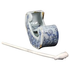 Dutch Delft pipe sledge 17th century
