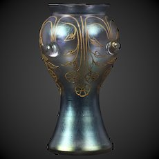 Soft tone Loetz vase decor Turmalin PN II 2/529