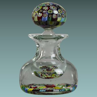 Dated 1849 Murano inkwell millefiori