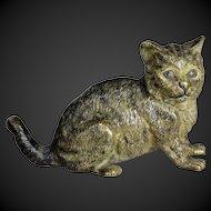 19th century Nice Vienna bronze cat marked Geschütz & letter B