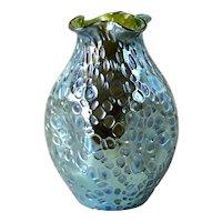 Large Loetz Art glass decor Crete Diaspora green/blue