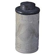 Early 18th century German Tabacco Jar Westerwald Kerbschnit