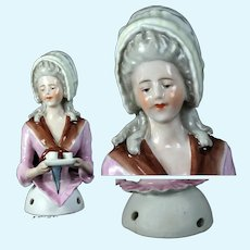 Exquisite rare antique 4.Half Doll La Belle Chocolatiere German Galluba & Hofmann