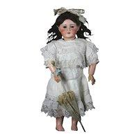"Beautiful Antique 23,5"" bisque head big sister from Bleuette Doll SFBJ, Unis France 301"