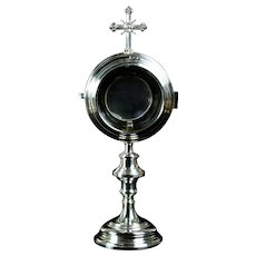 Early 20th century Czech solid silver monstrance ostensorium